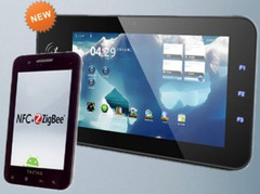 TazPad V2 is a secure Android tablet equipped with NFC and ZigBee technologies