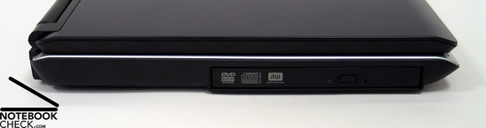 Left Side: DVD Drive