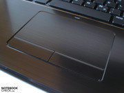 The touchpad is pleasantly smooth and agreeably large.