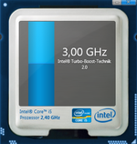 Turbo Boost 2.0 with up to 3.0 GHz