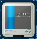 3.1 GHz: the maximum Turbo Boost frequency.