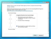 Windows 7 UAC level 4: full warning messages, also for changes to Windows settings
