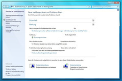 Windows 7: maintenance center, maintenance sector