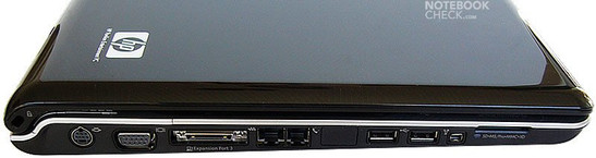 HP Pavilion dv9074cl interfaces