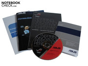 Asus has included several info booklets and a driver and tools DVD with the G73SW.