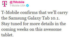 T-Mobile confirms Galaxy Tab 10.1