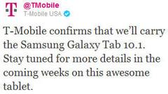 T-Mobile confirms Galaxy Tab 10.1