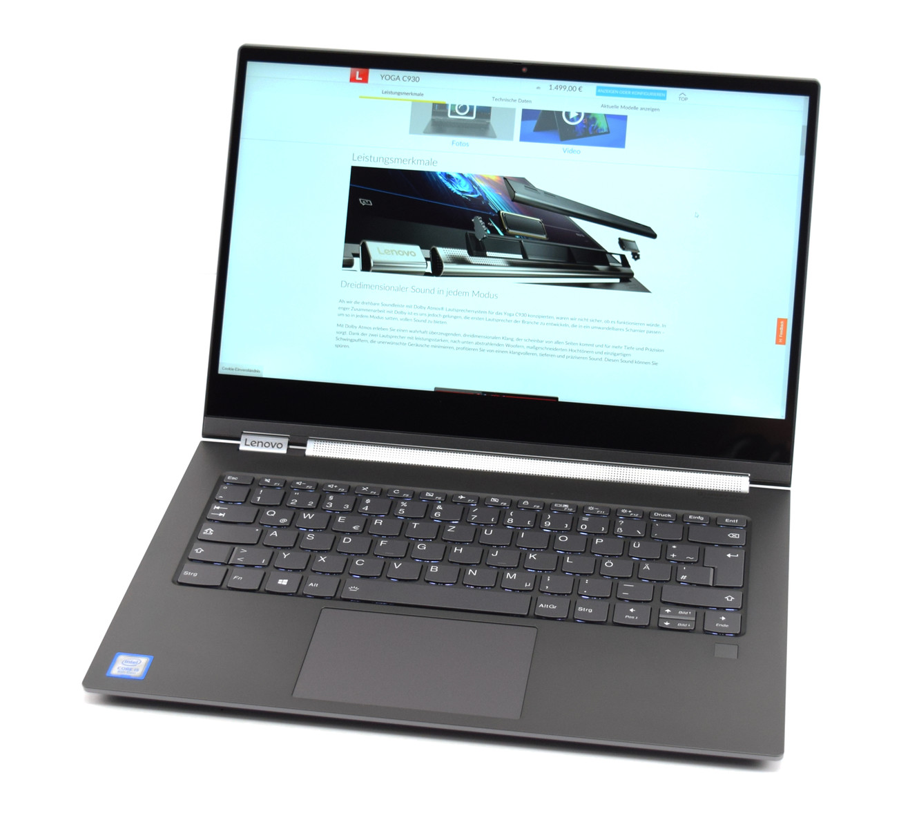 Lenovo Yoga C930-13IKB - Notebookcheck net External Reviews