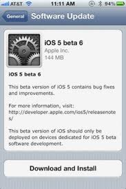 Apple outs iOS 5 Beta 6 for developers