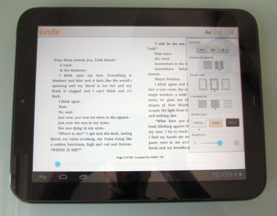 Kindle app for android tablet