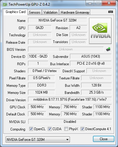 NVIDIA GEFORCE GT 320 CUDA 1GB WINDOWS XP DRIVER
