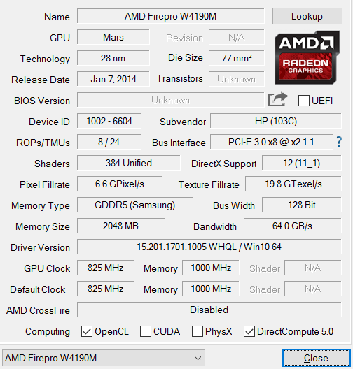 AMD FirePro W4190M Benchmarks and Specs - NotebookCheck net Tech