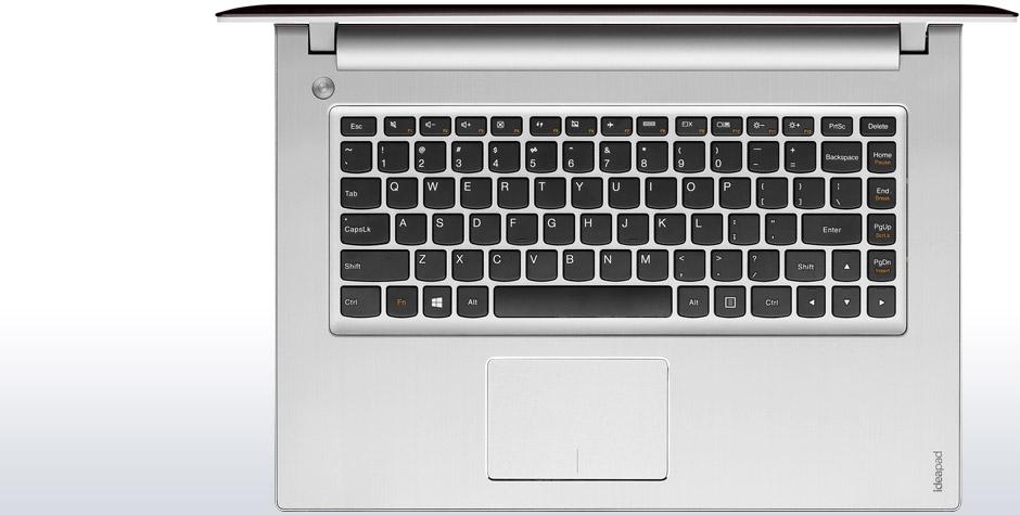 Lenovo Ideapad Z400 với bàn phím nhẵn, và gọn