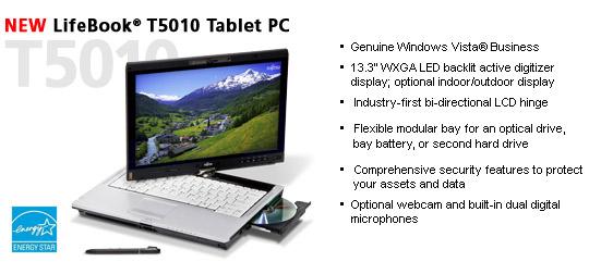 Fujitsu-Siemens LifeBook T5010 - Notebookcheck net External